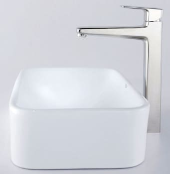 Kraus Virtus Series CKCV12215500BN - Rectangular Ceramic Sink with Virtus Faucet