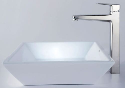 Kraus CKCV12515500 - Square Ceramic Sink and Virtus Faucet