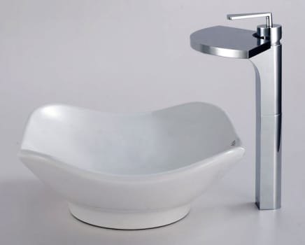 Kraus Fantasia Series CKCV13514800CH - Tulip Ceramic Sink with Fantasia Faucet