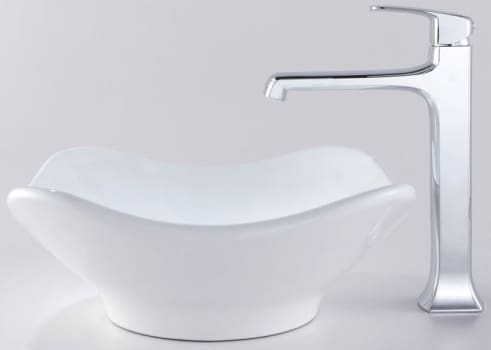 Kraus Decorum Series CKCV12515200CH - Square Ceramic Sink