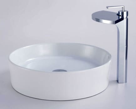 Kraus Fantasia Series CKCV14014800CH - Round Ceramic Sink and Fantasia Faucet