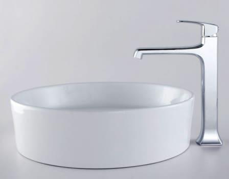 Kraus Decorum Series CKCV14015200CH - Round Ceramic Sink and Decorum Faucet