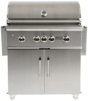 Coyote C1CH36CT - 36 Inch Cart for Coyote Charcoal Grills
