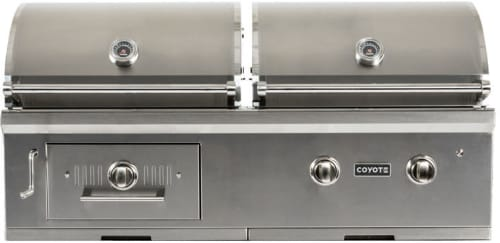 "Coyote C1HY50 - 50"" Coyote Built-in Hybrid Charcoal & Gas Grill"