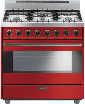 Smeg Classic Design C36GGRU - Red