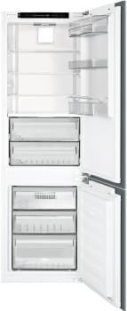 "Smeg CB300U - 22"" Built-in Bottom Freezer Refrigerator with 10 Cu. Ft. Capacity"