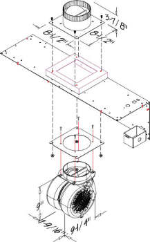 Prizer Hoods CFM300 - 300 CFM Internal Blower