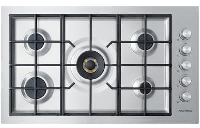 "Fisher & Paykel CG365DWNGACX2 - 36"" Gas Cooktop with 5 Sealed Burners"