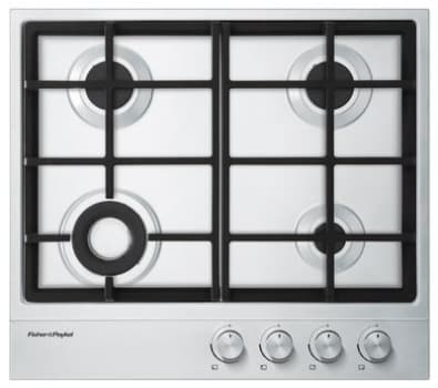 "Fisher & Paykel CG244DLPX1 - Fisher & Paykel 24"" Gas on Steel Cooktop"