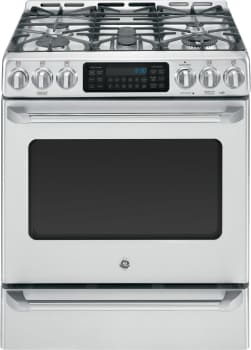 "GE Cafe Series CGS985SETSS - 30"" GE Cafe Series Slide-In Front Control Range with Baking Drawer"