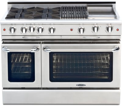 Capital Culinarian Series CGSR484BBL - Front View (not actual cooktop)