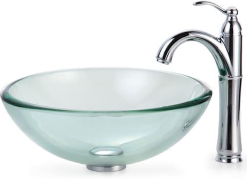 Kraus Clear Series CGV10119MM1005 - Chrome Faucet