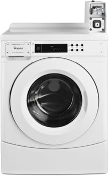 "Whirlpool Commercial Laundry CHW9050AW - 27"" ENERGY STAR Front-Load Commercial Washer with Factory-Installed Coin Slide and Coin Box"