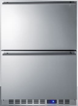 """Summit Classic Collection CL2F249 - 24"""" Undercounter Double Drawer All-Freezer"""