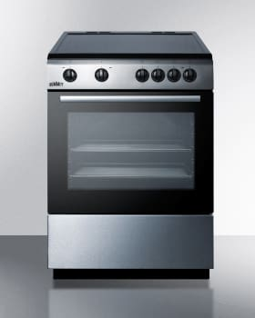 "Summit Classic Collection CLRE24 - 24"" Electric Range with Ceramic Glass Top and 4 Cooking Zones"