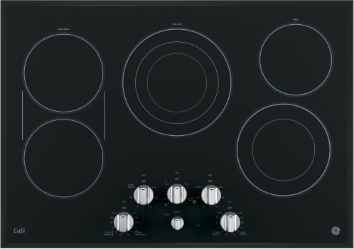 "GE Cafe Series CP9530SJSS - GE Café 30"" Built-In Knob Control Electric Cooktop"