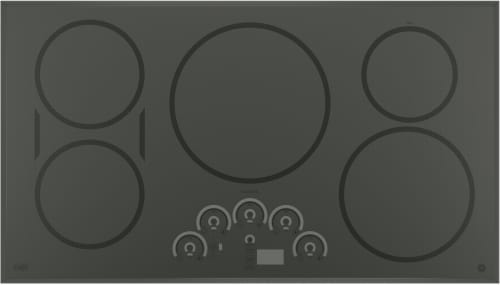 "GE Cafe Series CP9536SJSS - GE Café 36"" Built-In Knob Control Electric Cooktop"