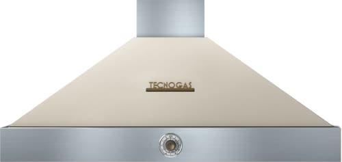 Tecnogas Superiore Deco Series HD481ACCB - Cream Wall Mount Range Hood with Bronze Accents