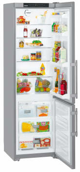 Liebherr CS1350B - 19.2 cu. ft. Freestanding Bottom Freezer Refrigerator with 4 Glass Shelves, 4 Door Bins, Ice Maker, Energy Star Rating and FrostSafe System