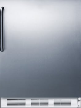 "Summit CT661SSTBADA - 24"" Compact Refrigerator with 5.1 cu. ft. Capacity"