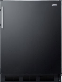 "Summit CT663BBIX - 24"" Compact Refrigerator with 5.1 cu. ft. Capacity"