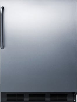 "Summit CT663BCSSX - 24"" Compact Refrigerator with 5.1 cu. ft. Capacity"