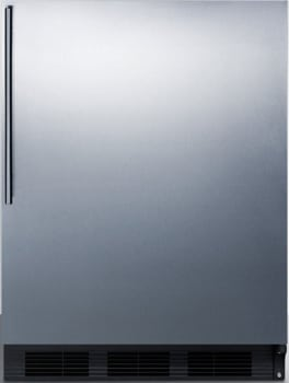 "Summit CT663BSSHVADA - 24"" Compact Refrigerator with 5.1 cu. ft. Capacity"