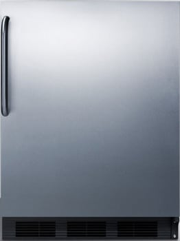 "Summit CT663BBISSTB - 24"" Compact Refrigerator with 5.1 cu. ft. Capacity"