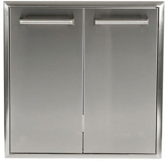 "Coyote CTC - 27"" Outdoor Stainless Steel Trash & Recycle Bin Cabinet"