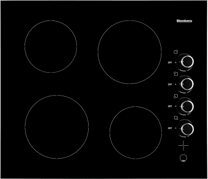 "Blomberg CTE24402 - 24"" Electric Cooktop"