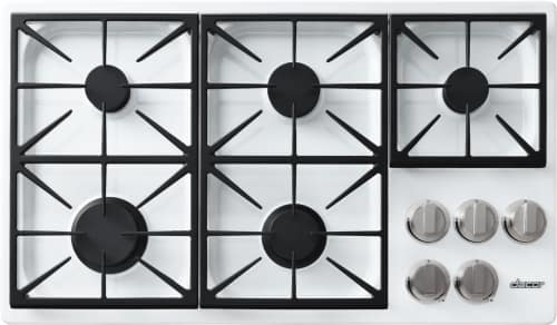 Dacor Discovery DYCT365GWLPH - 5-Burner Gas Cooktop in White
