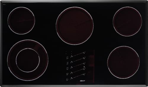 Dacor Renaissance ETT3652B - Dacor Electric Cooktop with 5 Ribbon Elements (Shown with Stainless Steel Trim)