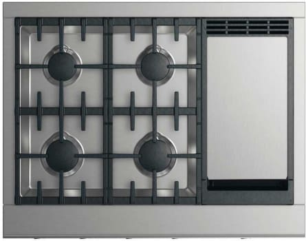 DCS CPV2364GD - 36 Inch Gas Cooktop with 4 Burners and Griddle