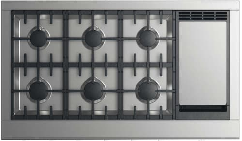 DCS Professional Series CPV2486GD - 48 Inch Professional Cooktop with 6 Burners and Griddle