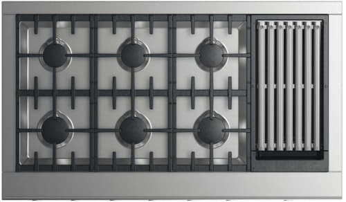 DCS CPV2486GLL - 48 Inch Gas Cooktop with 6 Burners and Grill
