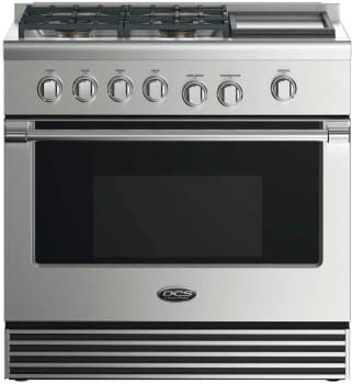 DCS RGV2364GDN - 36 Inch Gas Range with 4 Sealed Burners and Griddle