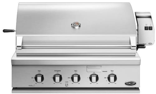 "DCS BH136RGI - 36"" Traditional Grill with Rotisserie, Griddle and Hybrid Infrared Burner from DCS"
