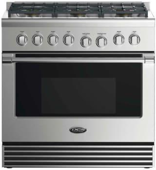 DCS Professional Series RDV2366L - 36 Inch 6 Burner-Dual Fuel Range