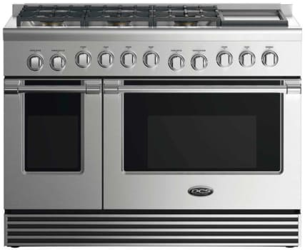 DCS RDV2486GDN - 48 Inch Dual Fuel Range with 6 Burners and Griddle