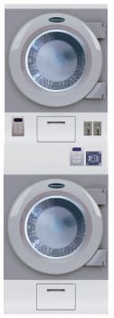 "Crossover DDSE - 27"" Metered Stacked Commercial Dryer with 7.5 cu. ft. Capacity, with Coin Box"