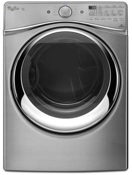Whirlpool Duet Steam WED97HED - Diamond Steel Front View
