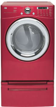 lg dle7177rm 27 inch electric dryer with 7.3 cu. ft. capacity, 9 drying  programs, and sensor dry system: wild cherry red  aj madison