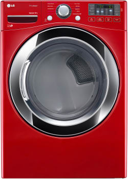 LG SteamDryer Series DLEX3370R - Wild Cherry Red Without Pedestal