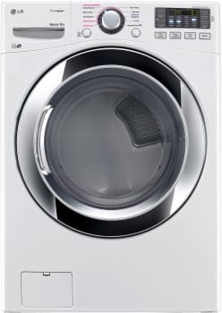 LG SteamDryer Series DLEX3370W - 27 Inch Electric Dryer from LG