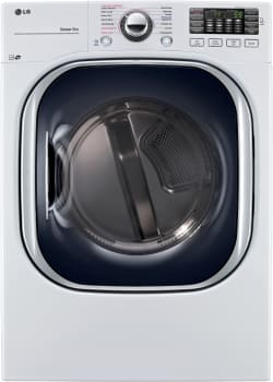 LG SteamDryer Series DLEX4370W - Front View