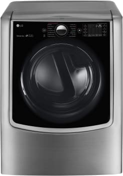 LG TurboSteam Series DLGX9001V - Graphite Steel Front View