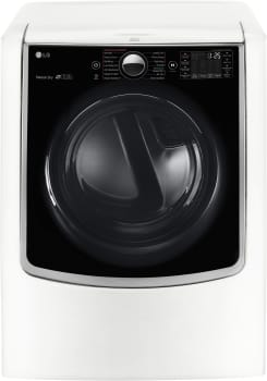 LG TurboSteam Series DLGX9001W - White Front View
