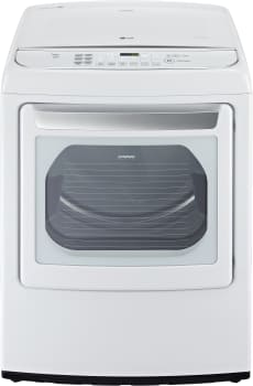 "LG SteamDryer Series DLGY1702WE - 27"" Ultra Large Capacity High Efficiency Front Control SteamDryer with EasyLoad Door"