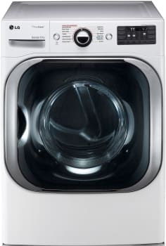 LG SteamDryer Series DLGX8101W - LG MEGA Capacity TrueSteam Dryer
