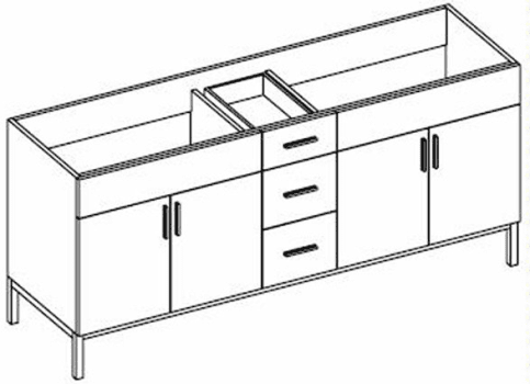 Empire Industries Daytona Collection DS7243BWP - Product Drawing